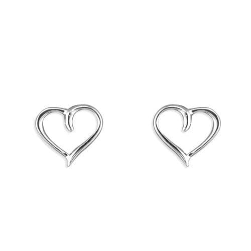 Silver outline heart earrings
