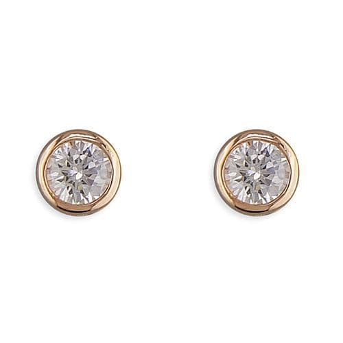 Silver & rose gold birthstone earrings - various colours