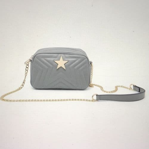 SPECIAL OFFER: Designer inspired bag - grey with star