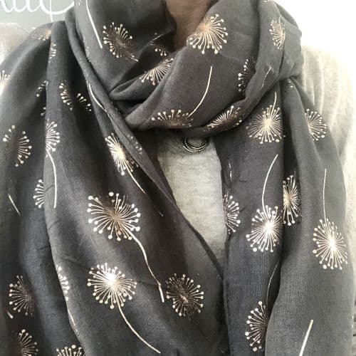 SPECIAL OFFER: Sparkly foil print scarves -  various designs and colours