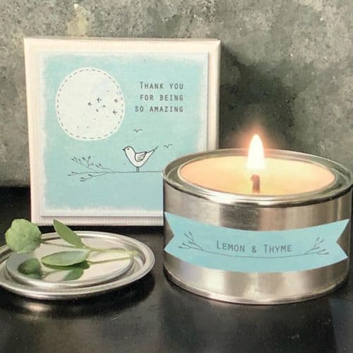 Thank you for being amazing  - boxed gift candle