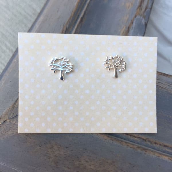 Thank you teacher gift silver earrings - tree of life