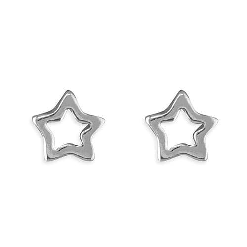 Wedding jewellery - star outline  earrings