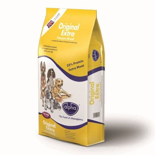 15kg Alpha Original Extra (Premium Muesli) - Complete Adult Dog Food