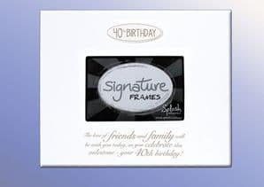 Splosh 40th Birthday Photo Signature Frame