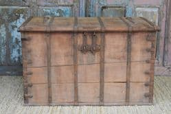 19th Century Teak Dowry Chest, Gujurat