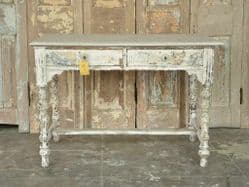 Antique Desk from Gujarat with faded paint <b>SOLD<b>