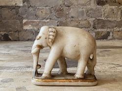 Antique Marble Elephant  from a Jain Temple, Rajasthan <b>SOLD<b>