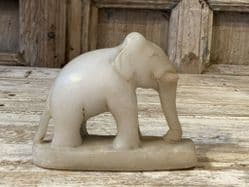 Early 20th century marble elephant - hindu temple offering