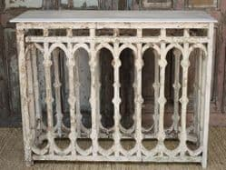 Marble topped console made from an antique balcony panel <b>SOLD<b>