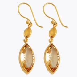 Marquise nugget drops citrine