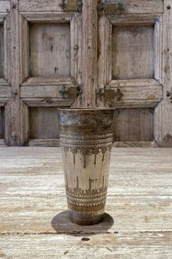 Old Lassi Glass with etched pattern