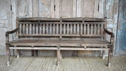 Pale Teak Vintage Colonial Bench, South India <b>SOLD<b>