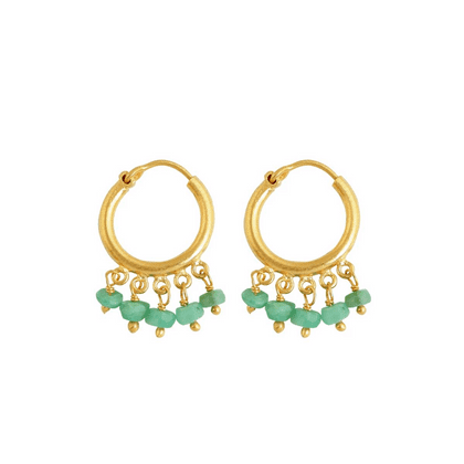 Small hoops with Emeralds