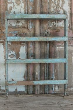 Teak Wall Shelf with faded paint tones, Vintage <b>SOLD<b>