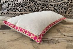 Vintage and antique embroidered cushion