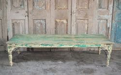 Vintage Coffee Table with faded paint tones, Gujarat <b>SOLD<b>