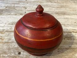 Vintage hand painted red box