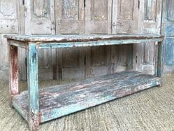 Vintage Printers Table with faded paint tones, Gujarat circa 1920 <b>Sold<B<