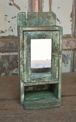 Vintage Wall Cabinet with Antique Mirror <b>SOLD<b>
