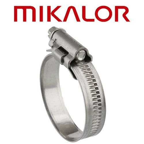 12-22mm Mikalor Stainless Steel Hose Clip (to suit hoses 9.5mm-13mm)