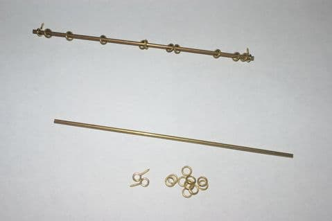 """6"""" Brass Curtain Rail with Fittings"""