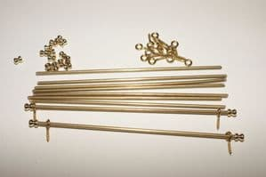 9 Brass Stair Rod Set