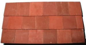 Mixed Red - Standard Roof Full Roof Tile - Dolls House