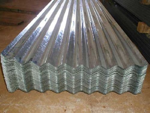 CORRUGATED IRON GALVANISED SHEET 8/3 2.4MT x 600MM  (0.5 GAUGE)