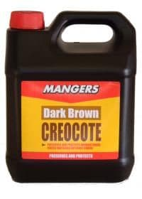 CREOCOTE SHED & FENCE PAINT LIGHT BROWN 4ltr
