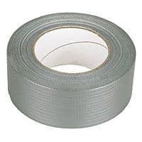 DUCT TAPE SILVER / BLACK WATERPROOF 48MM x 50MT