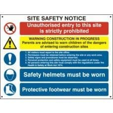 SIGN COMPOSITE SITE SAFETY NOTICE FMX 800x600mm  4550
