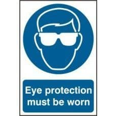 SIGN EYE PROTECTION MUST BE WORN 200x300MM 0007