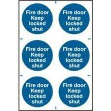SIGN FIRE DOOR KEEP LOCKED SHUT 200x300MM  0153