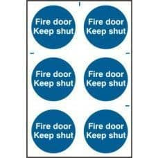 SIGN FIRE DOOR KEEP SHUT 200x300MM  0151