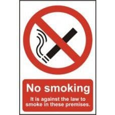 SIGN NO SMOKING IT IS AGAINST THE LAW TO SMOKE ON.. 200x300MM 0567