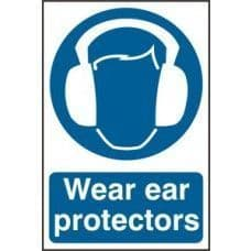 SIGN WEAR EAR PROTECTORS 200x300MM 0005