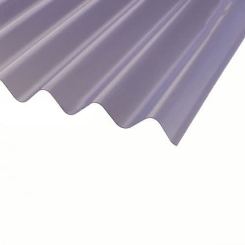 COROLINE SHEET TRANSLUCENT CLEAR PVC 2000MM x 950MM