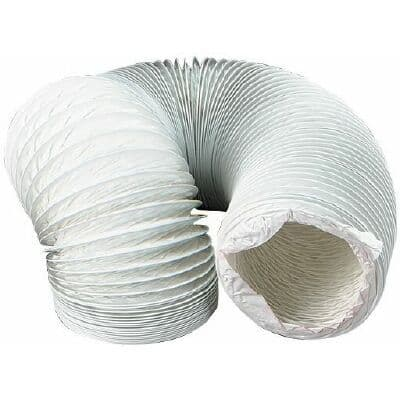 DUCT FLEXIBLE ROUND WHITE 6MT x 102MM