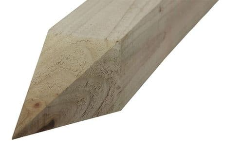 FENCE POST TREATED 3in x 3in x 6ft POINTED (75MM x 75MM x 1.8MT)