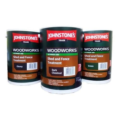JOHNSTONE SHED & FENCE PAINT 5ltr RUSTIC RED