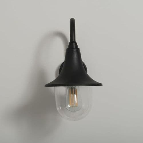 KSR MORROS DOWNWARD WALL LIGHT LANTERN E27 BLACK