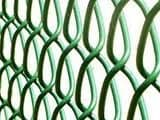 PVC CHAIN LINK FENCING 25MT x 1.8MT x 50MM C/W STRAINING WIRE