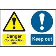 SIGN DANGER CONTRUCTION SITE KEEP OUT 600x400MM 4005