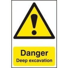 SIGN DANGER DEEP EXCAVATION 400x600MM 4103