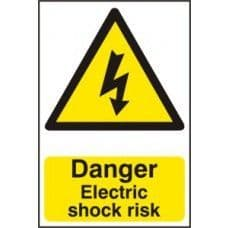 SIGN DANGER ELECTRIC SHOCK RISK 200x300MM 0750