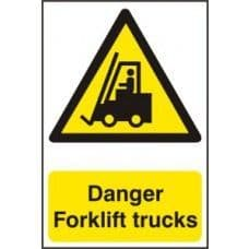 SIGN DANGER FORKLIFT TRUCKS 200x300MM 0954