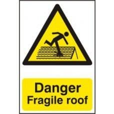 SIGN DANGER FRAGILE ROOF 200x300MM 1104