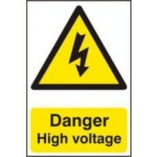 SIGN DANGER HIGH VOLTAGE 200x300MM 0761