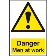 SIGN DANGER MEN AT WORK 200x300MM 1200